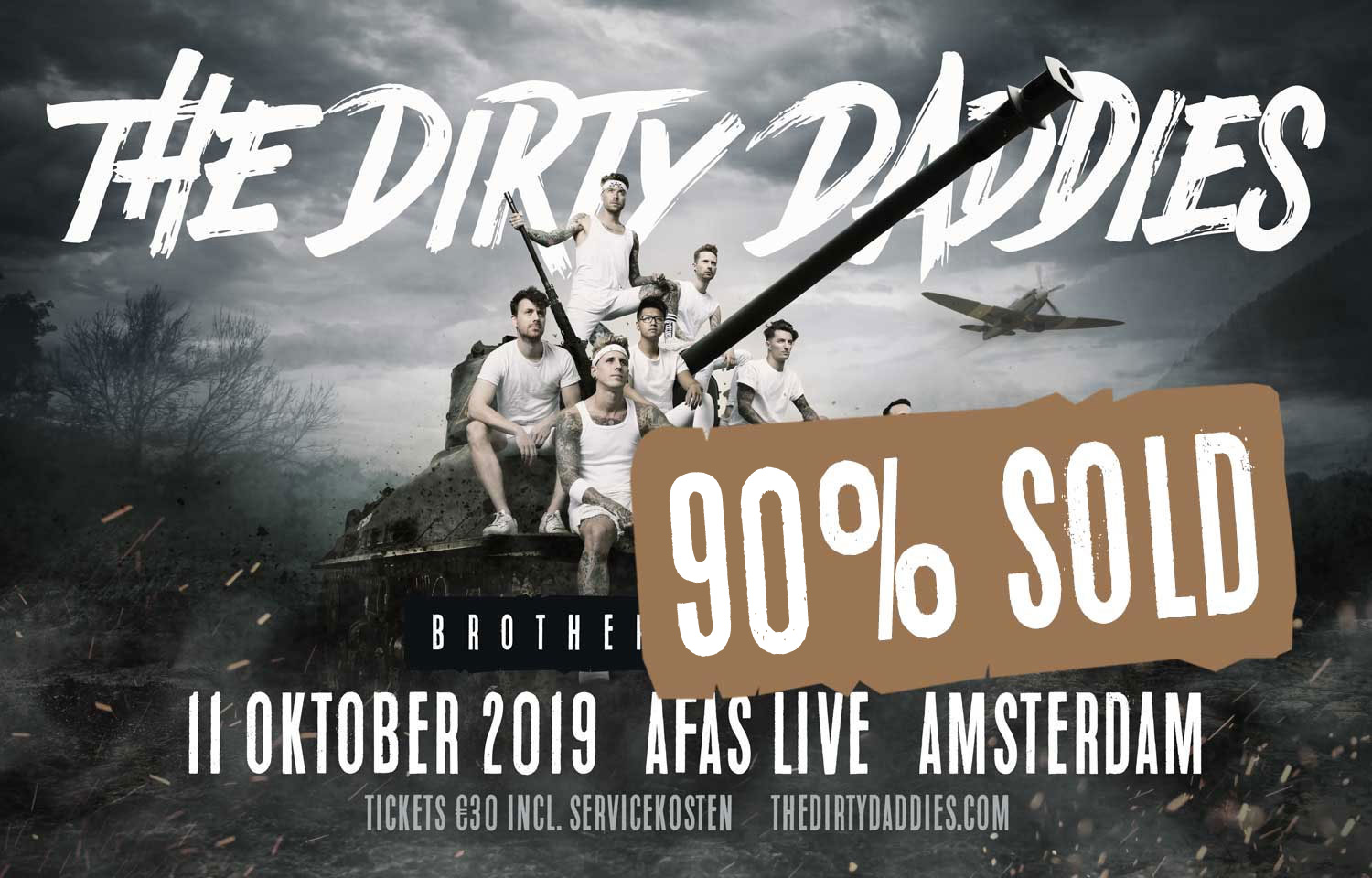 The Dirty Daddies 11 oktober 2019 terug in de AFAS Live!